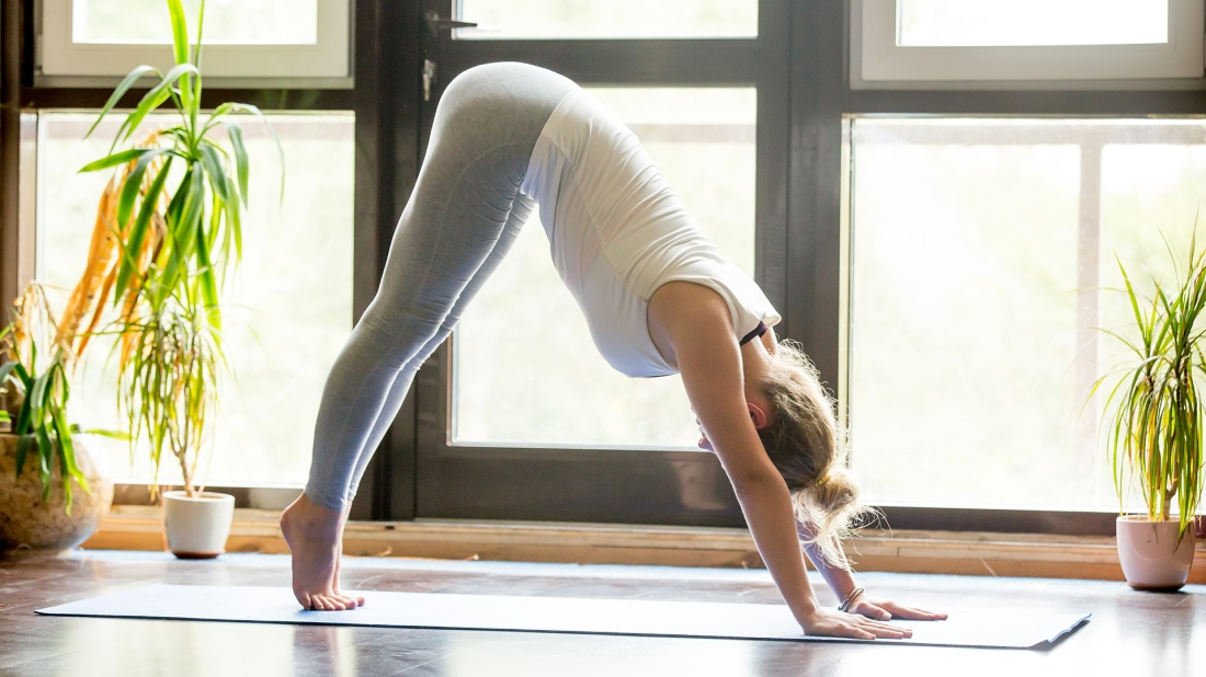 Yoga at home: Downward Facing Dog Pose